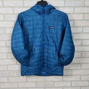 Patagonia Nano-Puff 1/2 Zip Pullover Jacket M Blue